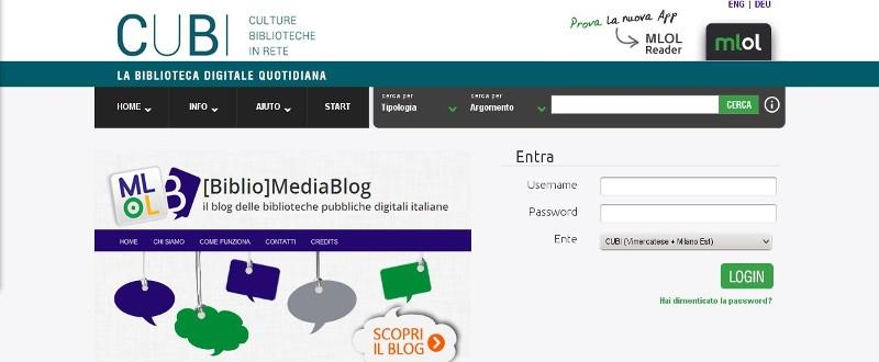 Il portale MLOL di CUBI